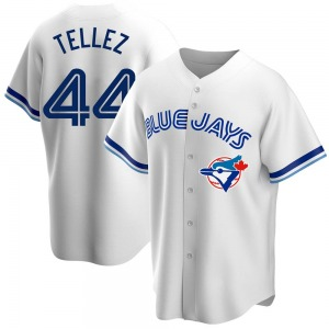 Men's Rowdy Tellez Toronto Blue Jays Replica White Home Cooperstown Collection Jersey