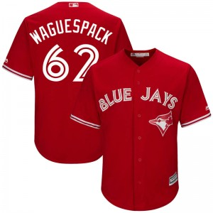 Youth Jacob Waguespack Toronto Blue Jays Replica Scarlet Cool Base Alternate Jersey by Majestic
