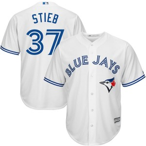 Youth Dave Stieb Toronto Blue Jays Authentic White Cool Base Home Jersey by Majestic