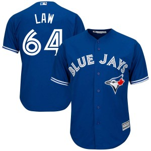 Youth Derek Law Toronto Blue Jays Authentic Royal Blue Cool Base Alternate Jersey by Majestic